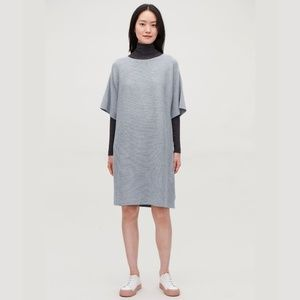 🔴  COS Rectangular Knitted Dress Wool Gray LARGE
